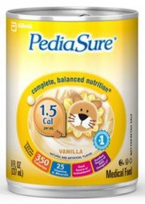 Abbott Nutrition PediaSure 1.5 Cal Complete Balanced Nutrition Drink Vanilla Flavor