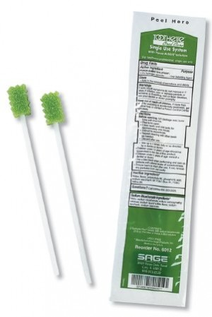 Sage Single Use Swab System with Perox-A-Mint
