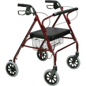 Drive Go-Lite Oversized Steel 4 Wheel Rollator Walker