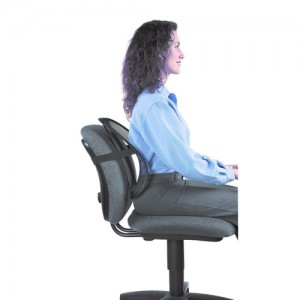 Black Mesh Posture Support Back Cushion