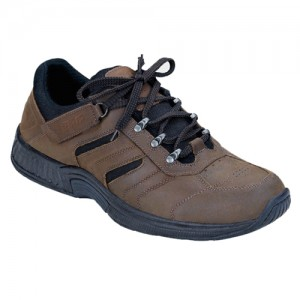 Orthofeet Shreveport Mens Tie-Less Lace Orthopedic Hiking Shoes