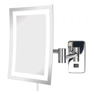 Jerdon Rectangular 6-1/2 x 9 in LED Lighted WallMount Mirror