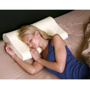 Deluxe Contour Memory Foam Neck Pillow - Cream