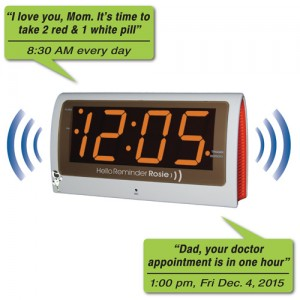Reminder Rosie 25 Alarm Clock with Large Display and Voice Reminders