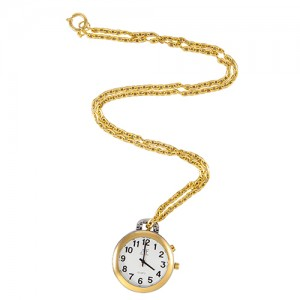 Unisex 1-Button Talking Pendant/Pocket Watch with Alarm