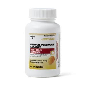 Senna-S Natural Vegetable Laxative Tablets with Stool Softener