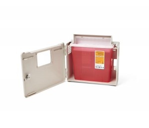 MedLine 3-Gallon Biohazard Patient Room Sharps Container
