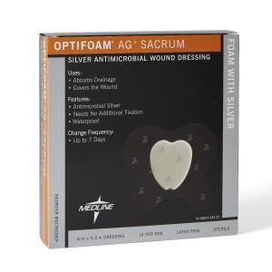 MedLine Optifoam AG+ Sacrum Silver Antimicrobial Wound Dressing