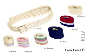 Color Coded GAIT BELTS with Metal Buckle