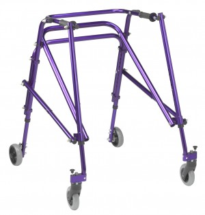 Nimbo Rehab Lightweight Posterior Posture Walker with Seat, Large, Wizard Purple
