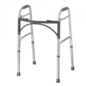 Drive Deluxe Two Button Folding Walker