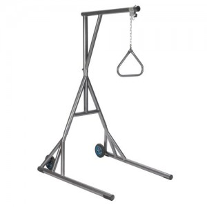 Drive Heavy Duty Trapeze with Base and Wheels, Silver Vein