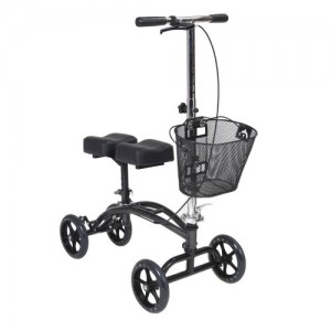 Drive Dual Pad Steerable Knee Walker with Basket, Alternative to Crutches