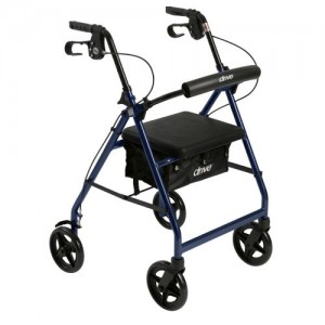 Drive Aluminum Rollator with Fold Up and Removable Back Support and Padded Seat
