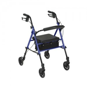 """Drive Adjustable Height Rollator with 6"""" Wheels"""