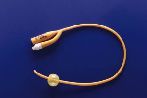 Rusch PureGold Coude Latex PTFE Coated Latex Foley Catheter