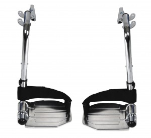 Drive Chrome Swing Away Footrests with Aluminum Footplates