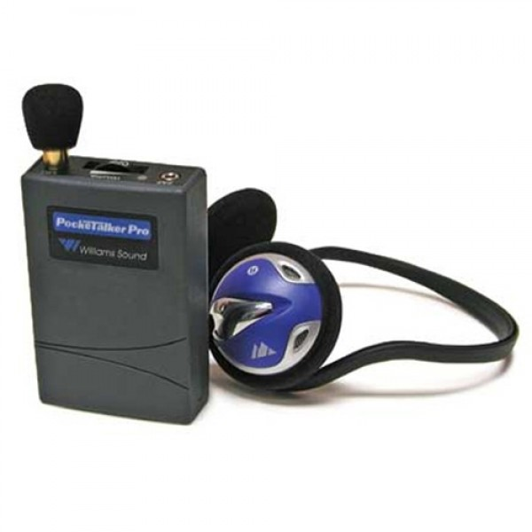 Williams Sound WS-PKTPRO1-H26 Pocket Talker with Rear-Wear Headphone