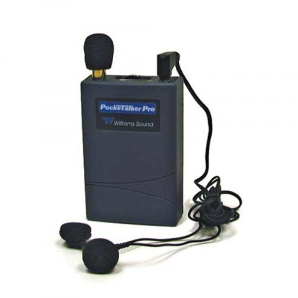 Williams Sound WS-PKTPRO1-E14 Pocket Talker with Dual Mini Earphone