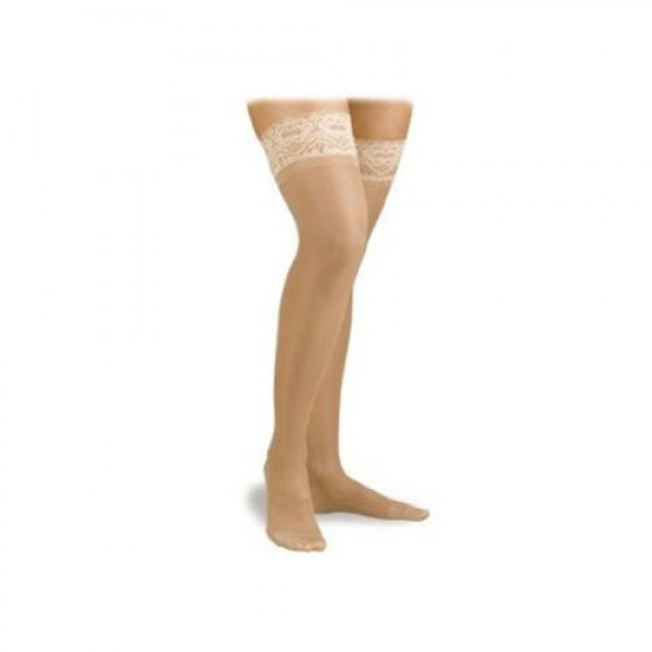 Activa Thigh High Compression Hosiery 15-20mm Hg Lace Top