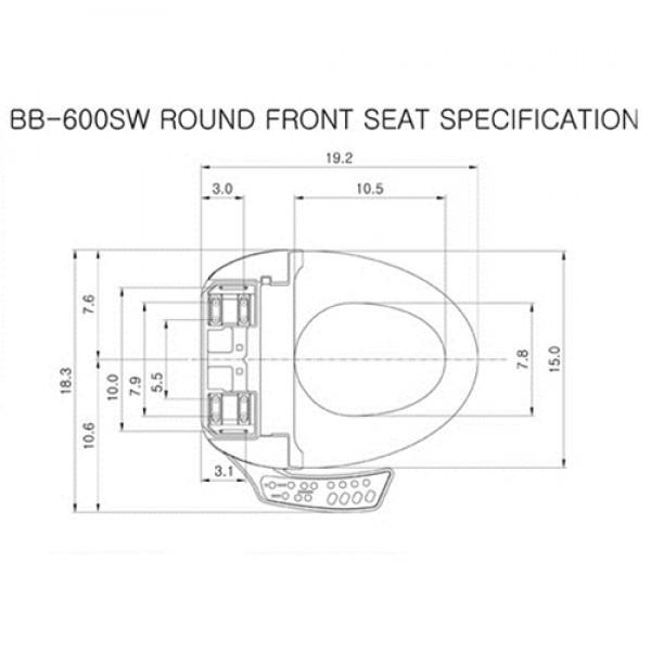 Bio Bidet Ultimate BB-600 Bidet Seat