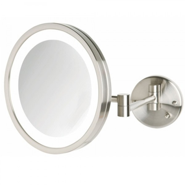 Jerdon First Class 5X Lighted Wall Mount Mirror