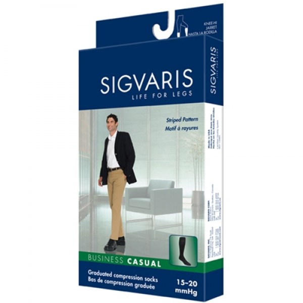 Sigvaris Mens Business Casual 15-20 mmHg Compression Socks