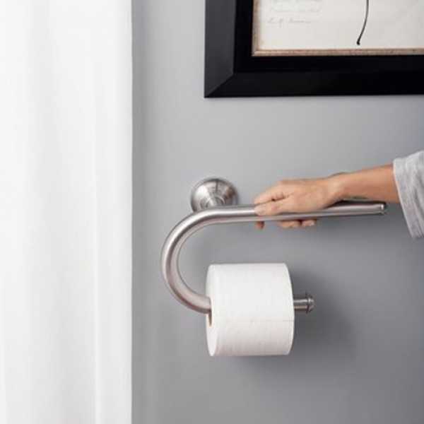 Moen Home Care Grab Bar with Toilet Paper Holder