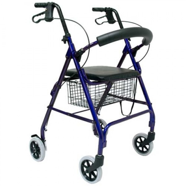 Karman R-4600 4 Wheel Walker with Brakes