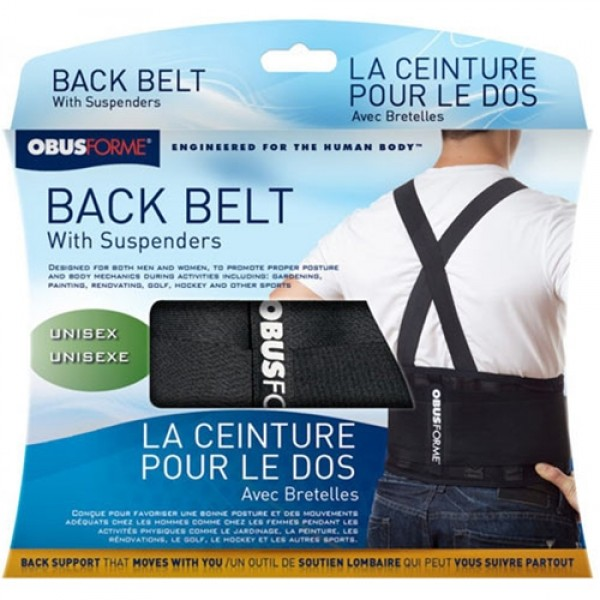 ObusForme Unisex Back Belt w/ Built In Lumbar Support