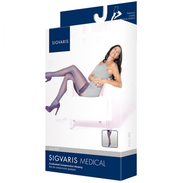 Sigvaris 711 Allure 15-20mmHg Thigh High Compression Stockings