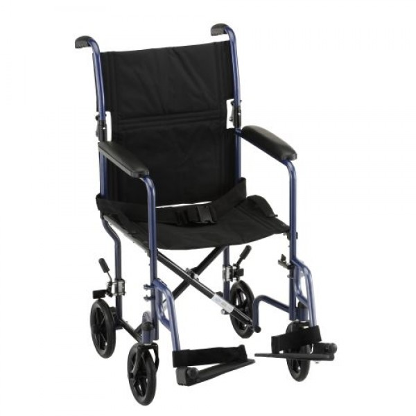 19 Inch Steel Transport Chair