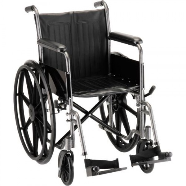 Nova Hammertone Wheelchair with Fixed Arms & Footrests