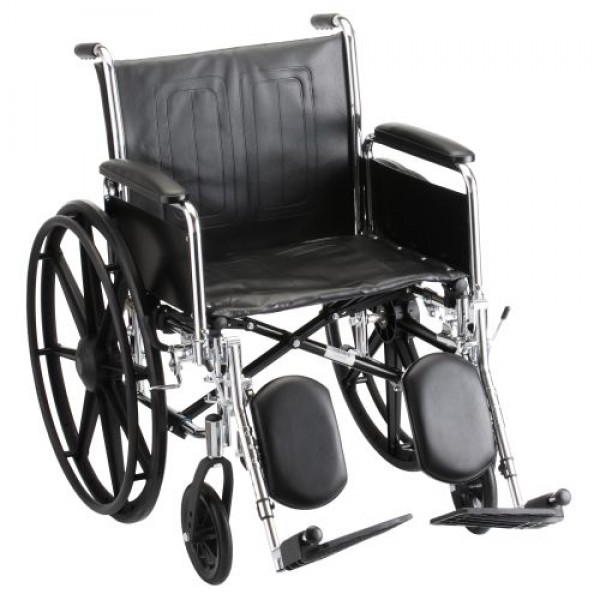 Nova Steel Wheelchair with Detachable Full Arms & Footrests
