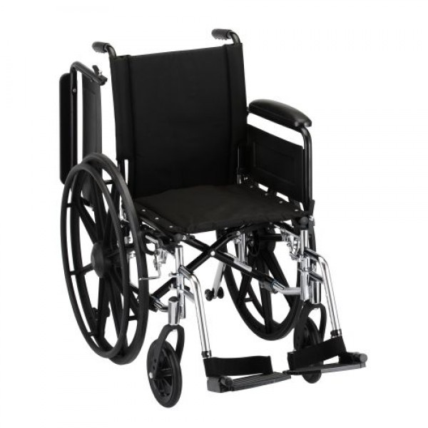 Nova Lightweight Wheelchair with Full Arms and Footrests