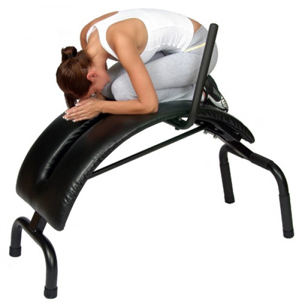 Health Mark Deluxe Backwave Traction Bench - Black/Silver