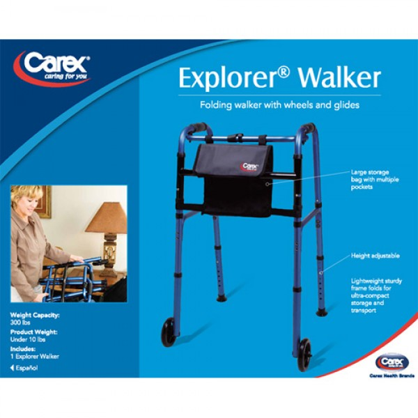 Carex Explorer Walker with Wheels