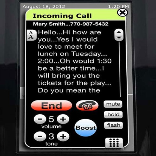 Clarity Ensemble Amplified Caption Phone with ClarityLogic