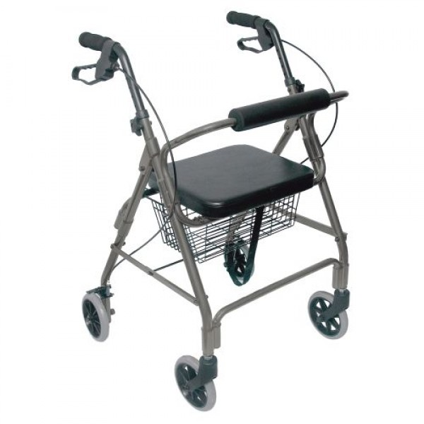 DMI Ultra Lightweight Aluminum Rollator with Straight Backrest
