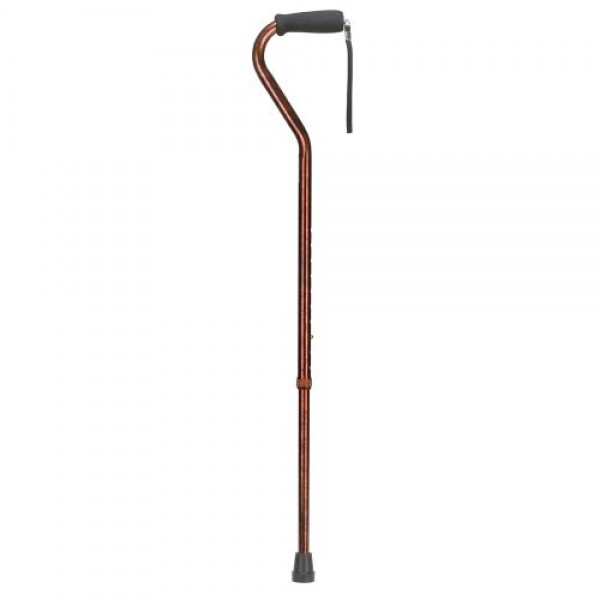 DMI Deluxe Adjustable Aluminum Cane with Offset Handle