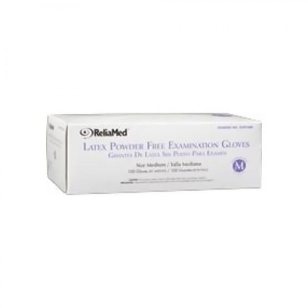 ReliaMed Non-Sterile Powder-Free Latex Exam Gloves