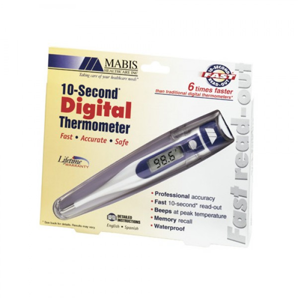 MABIS 9-Second Digital Fahrenheit Thermometer