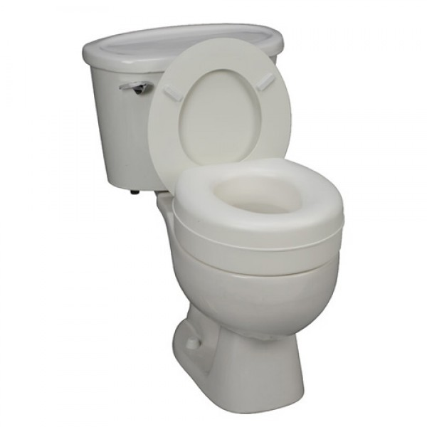 HEALTHSMART Deluxe Plastic Toilet Seat Riser