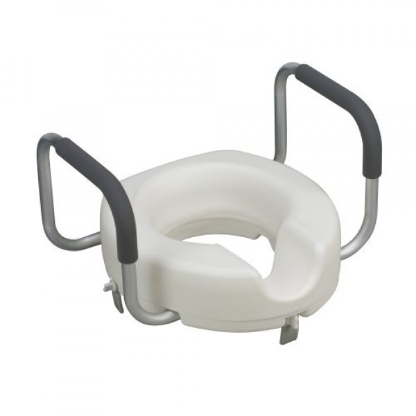 DMI Locking Raised Toilet Seat Riser with Arms