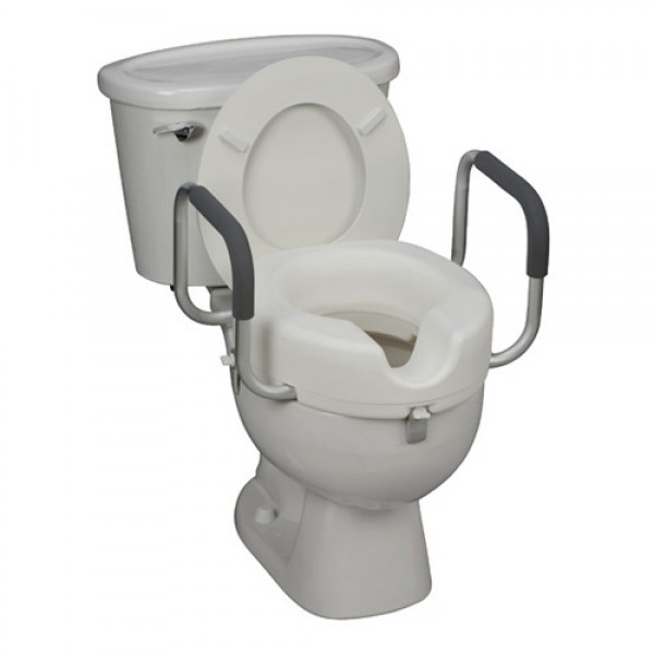 Marvelous Dmi Locking Raised Toilet Seat Riser With Arms Inzonedesignstudio Interior Chair Design Inzonedesignstudiocom