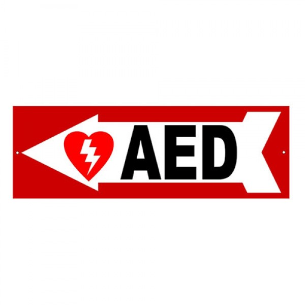 AED Directional Sign