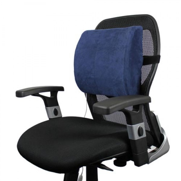 Office Chair Lumbar Pads PrimeTrendz TM Lumbar Cushion in Black