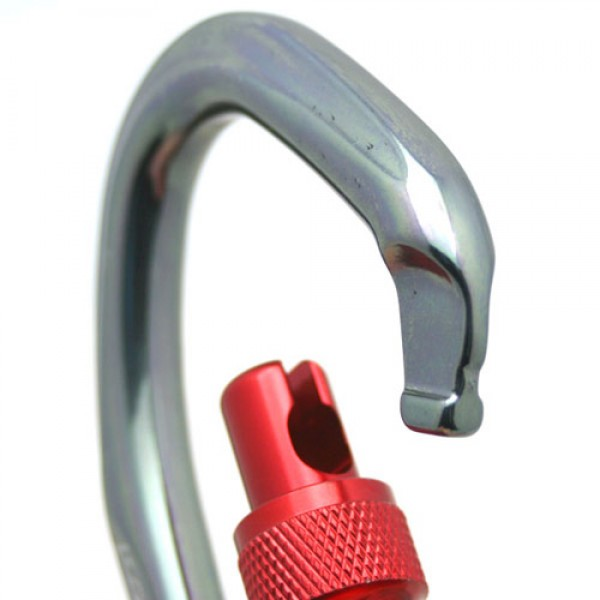 Fusion Techno Wave Screw-Locking Gate Carabiner