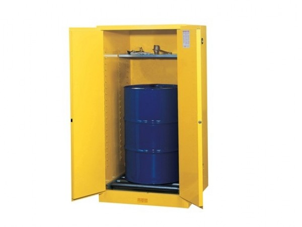 Justrite 55 Gallon Sure-Grip EX Safety Cabinet For 1 Vertical Drum