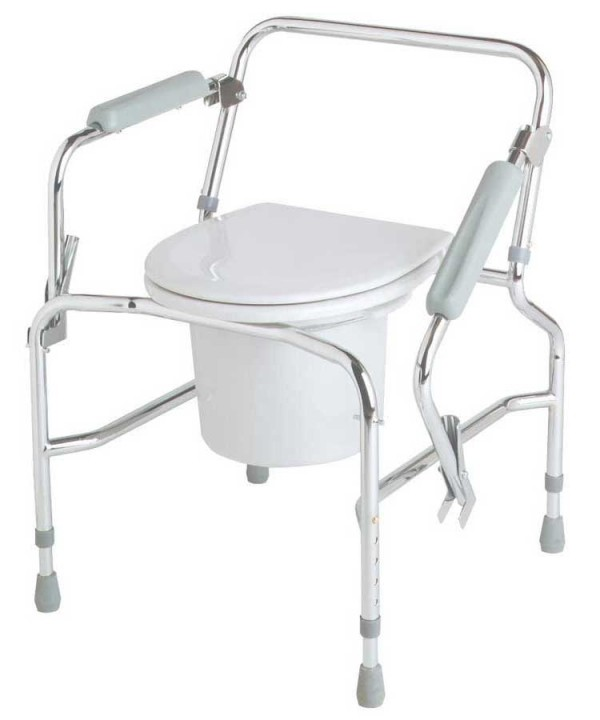 Medline Steel Drop Arm Commode